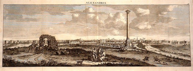 Cornelius_de_Bruyn,_view_of_Pompey's_Pillar_with_Alexandria_in_the_background,_1681